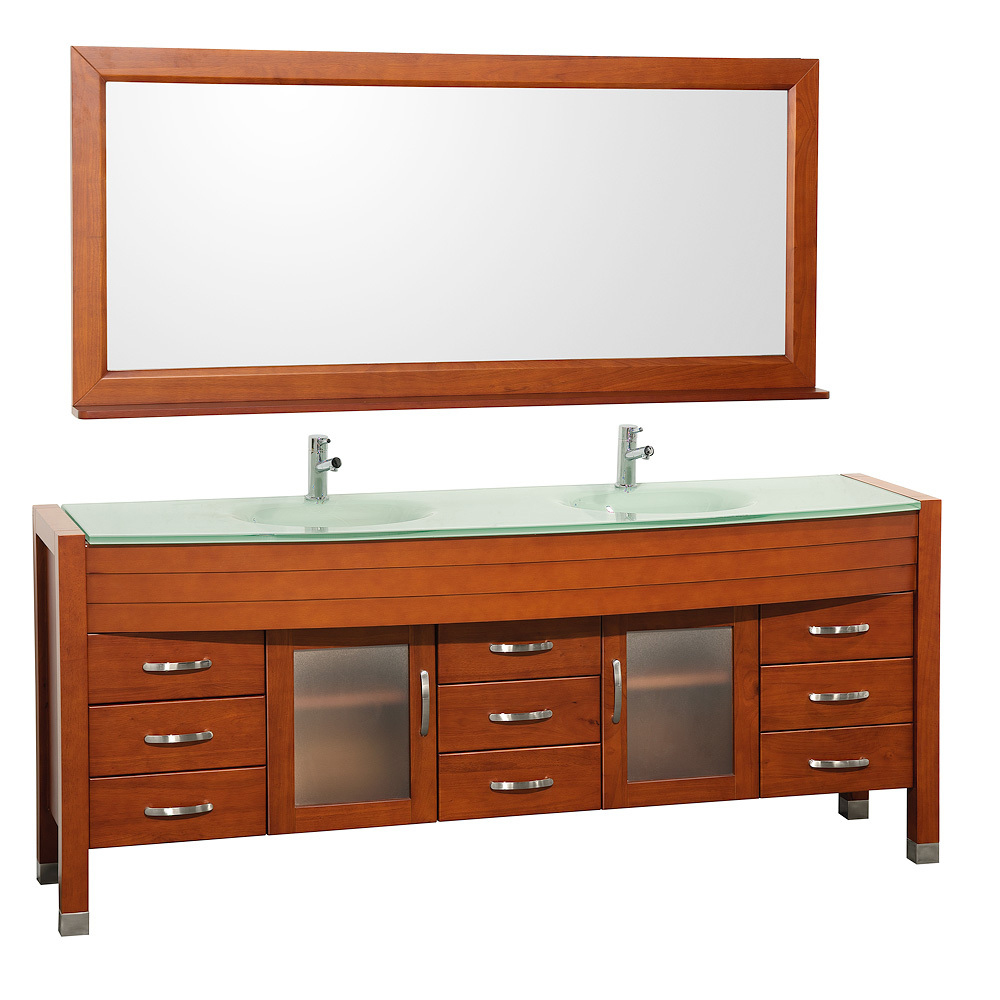 78 daytona double sink vanity cherry for 78 double sink bathroom vanity