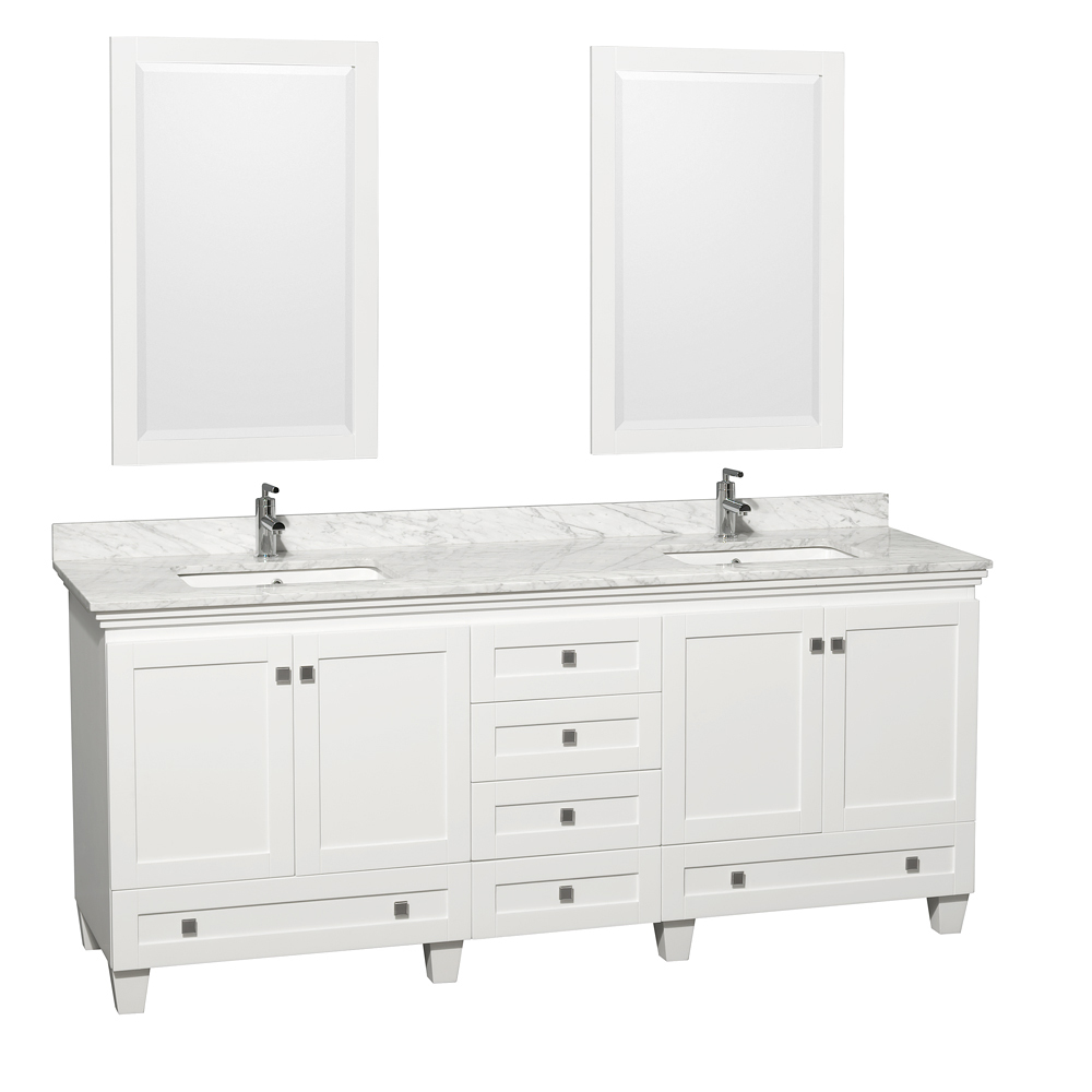 80 double sink bathroom vanity 80 quot acclaim sink vanity white bathgems 21883