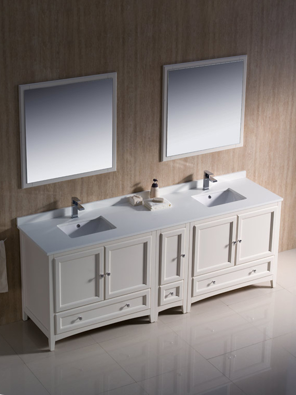 84 Oxford Double Sink Vanity White