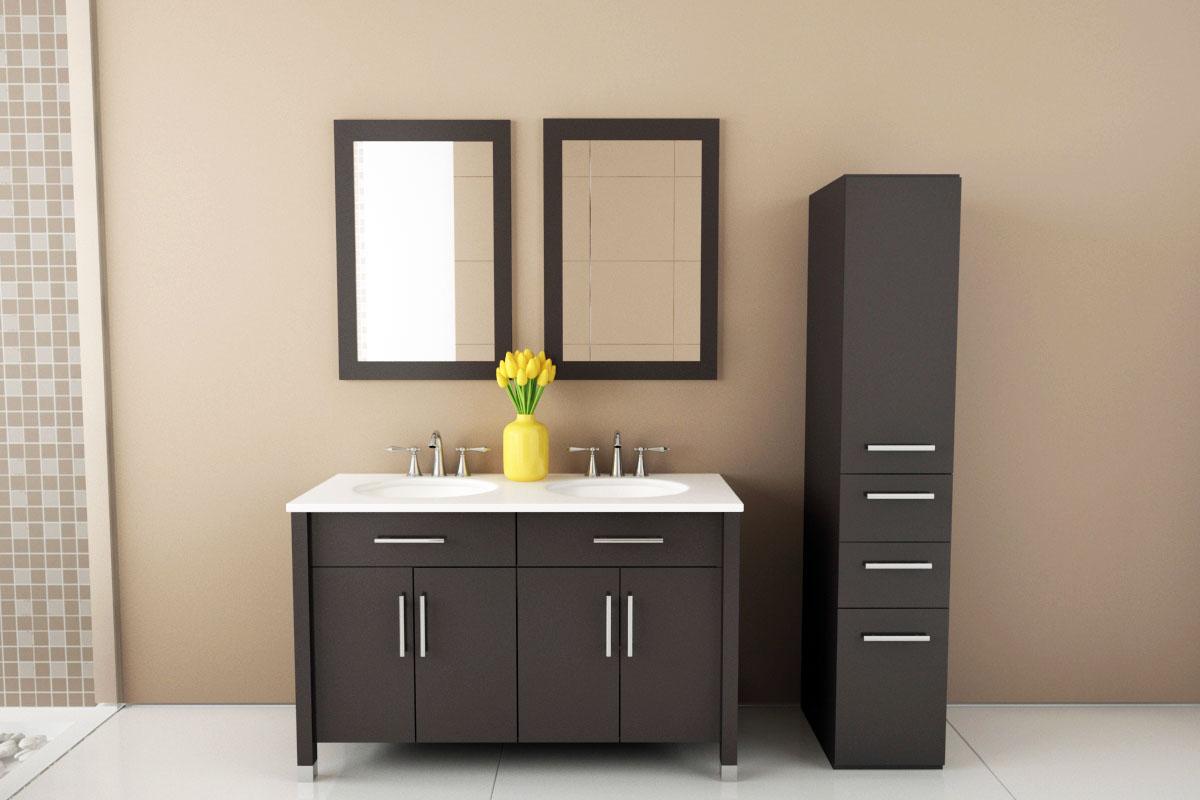 "48"" Mini Rana Double Sink Vanity - Bathgems.com"