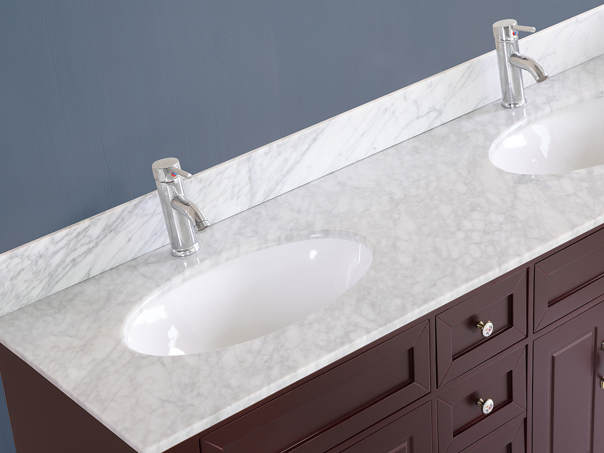 "59"" Littleton Double Sink Vanity shown with White Top"