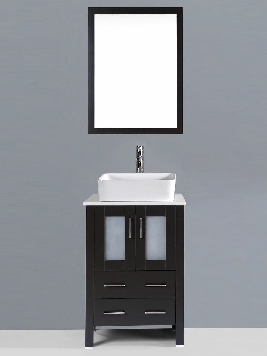 Alpert Single Vanity with Square Sink