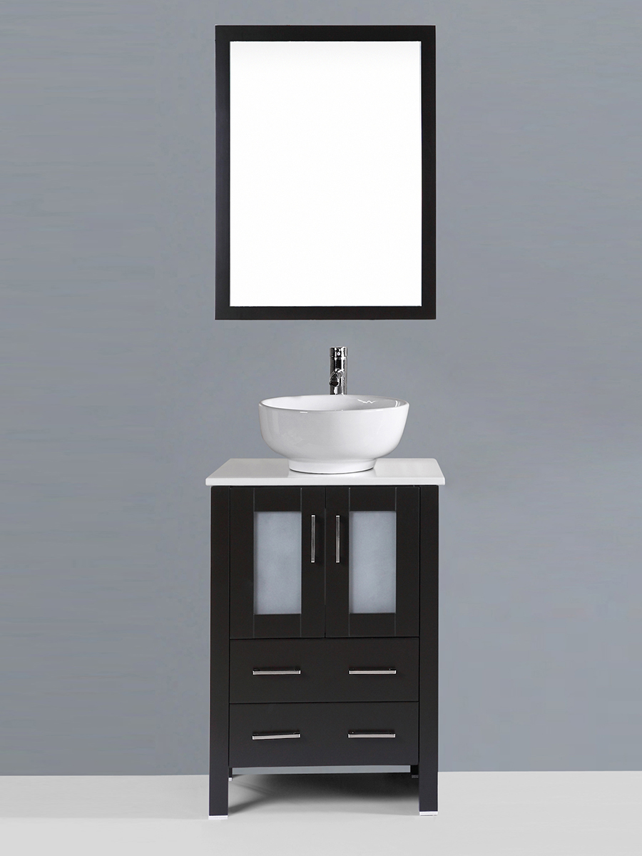 Alpert Single Vanity with Round Sink