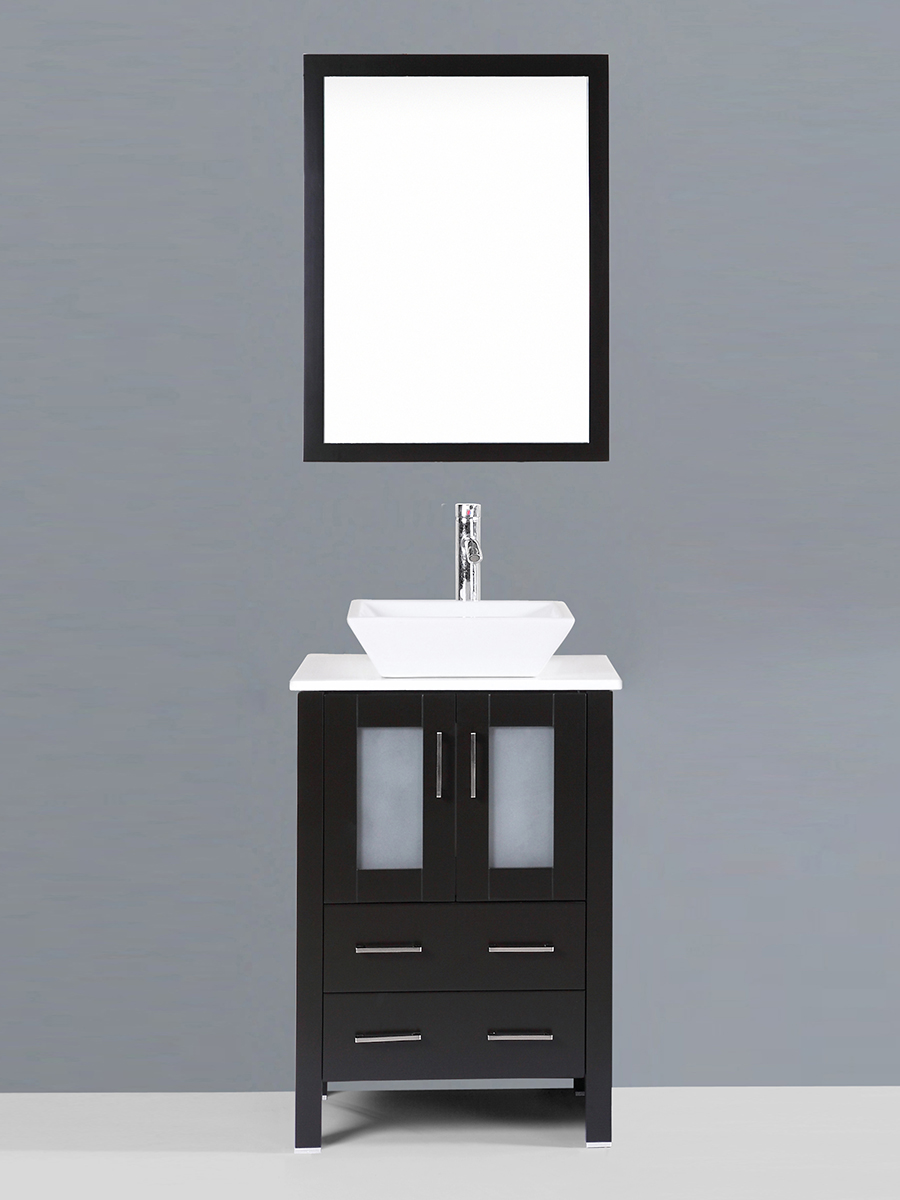 Alpert Single Vanity with Angled Sink