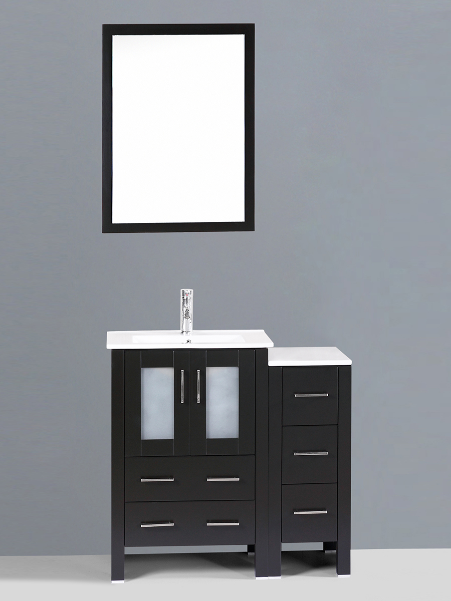 Alpert Single Vanity with Undermount Sink & 1 Side Cabinet