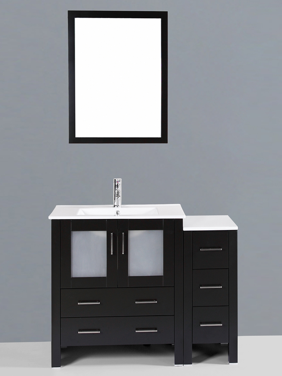 Widmore Single Vanity with Undermount Sink & 1 Side Cabinet
