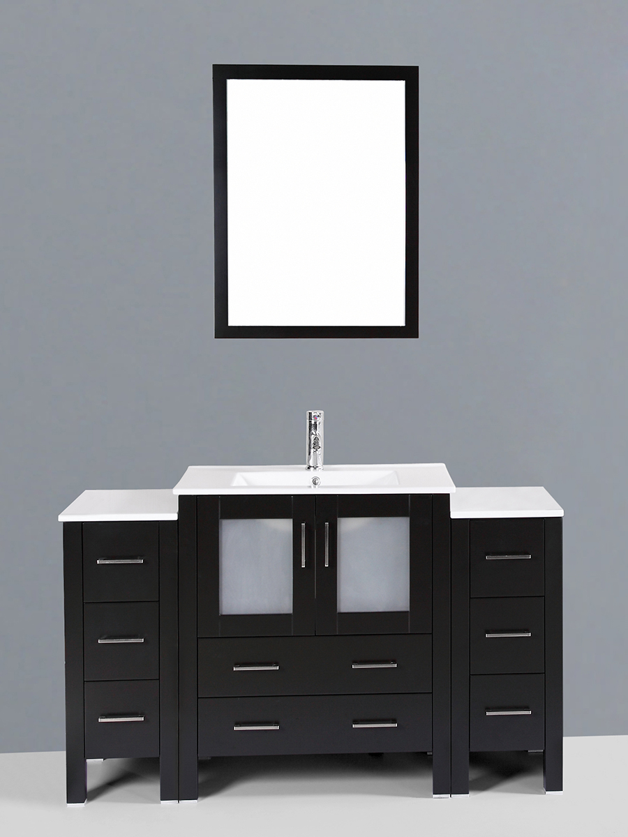 Widmore Single Vanity with Undermount Sink & 2 Side Cabinets