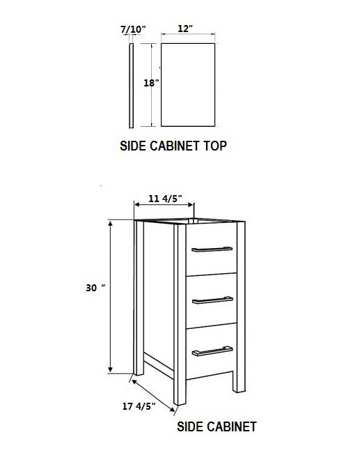 Shepard Side Cabinet dimensional view