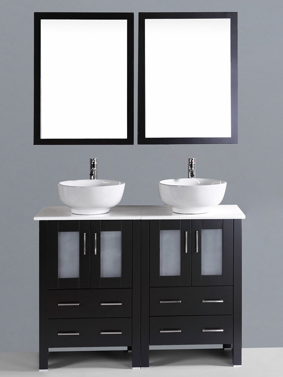 Dawson Double Vanity with Round Sinks