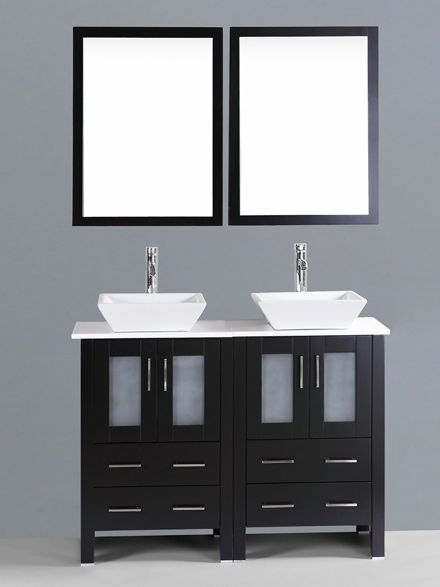 Dawson Double Vanity with Angled Sinks