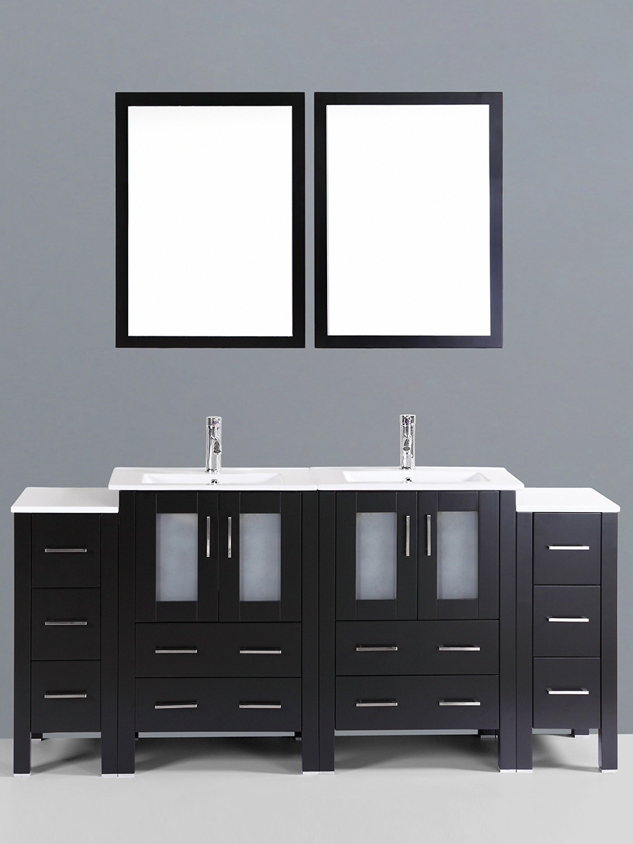 Dawson Double Vanity with Undermount Sinks & 2 Side Cabinets
