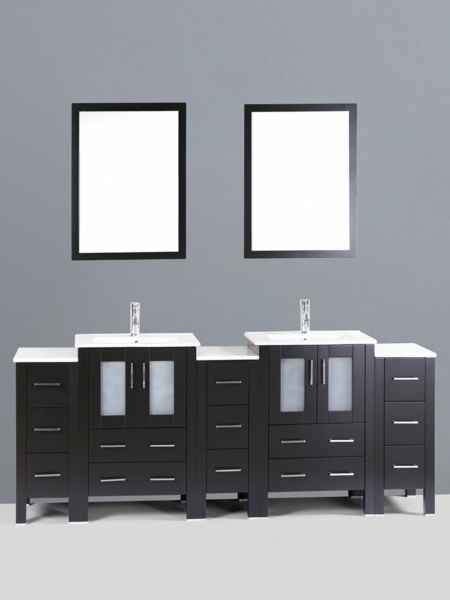 Dawson Double Vanity with Undermount Sinks & 3 Side Cabinets