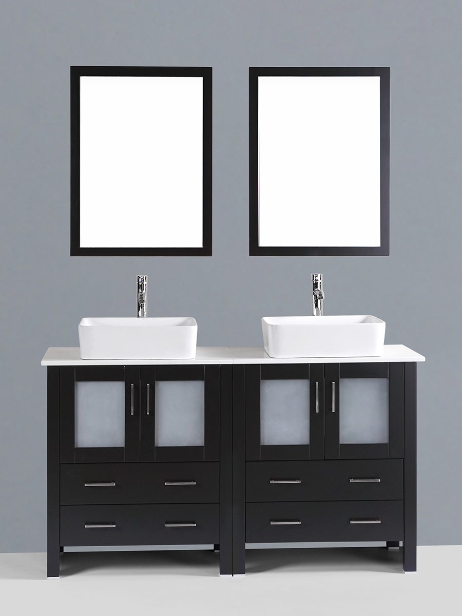 Carlyle Double Vanity with Square Sinks