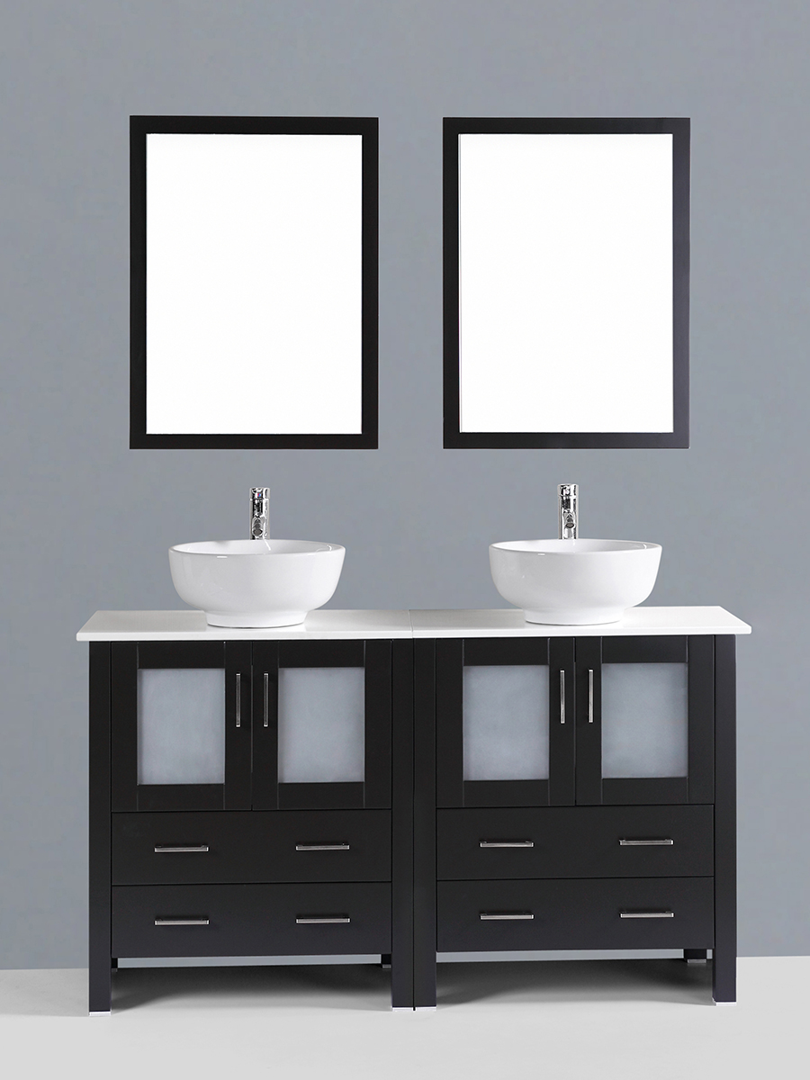 Carlyle Double Vanity with Round Sinks