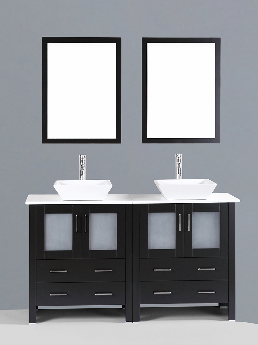 Carlyle Double Vanity with Angled Sinks