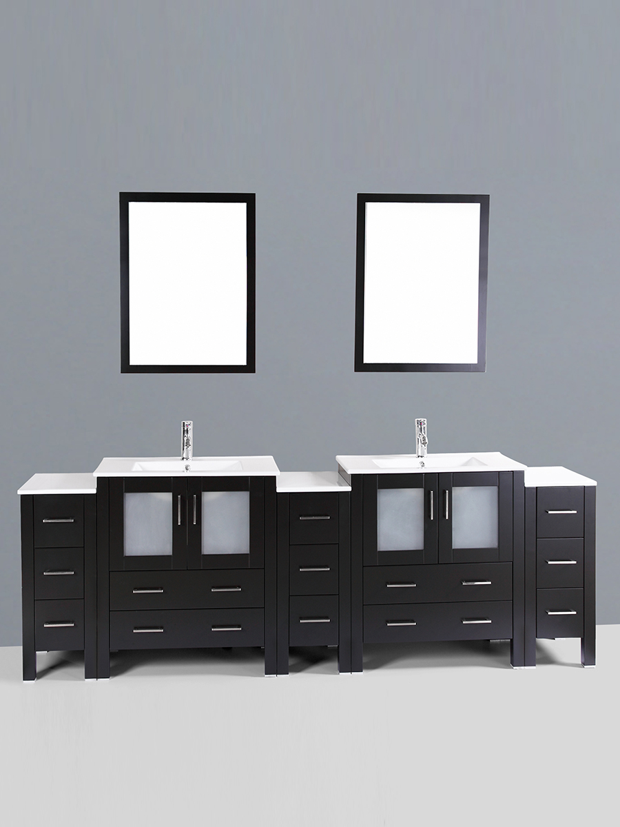 Carlyle Double Vanity with Undermount Sinks & 3 Side Cabinets