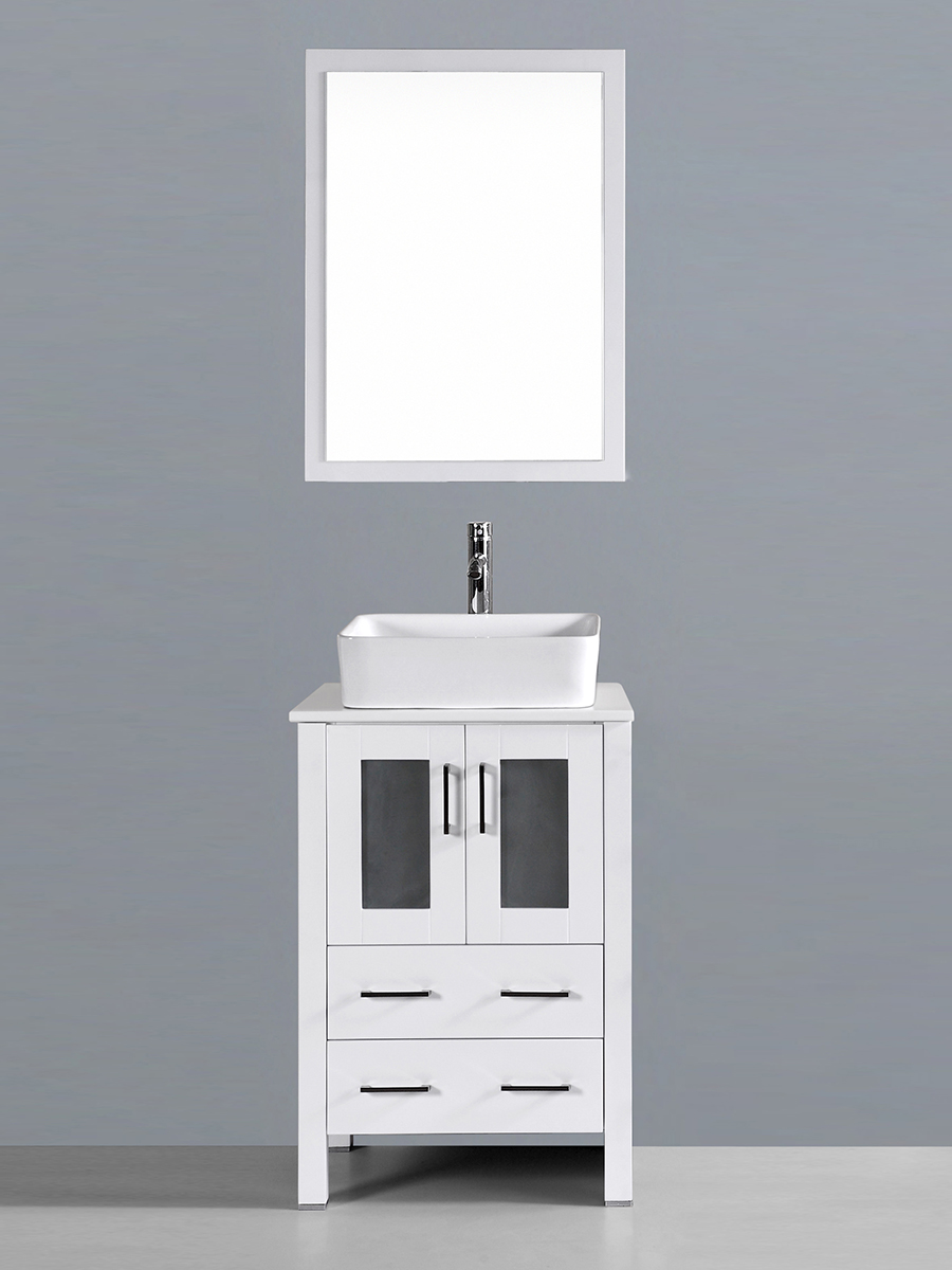 Aria Single Vanity with Square Sink