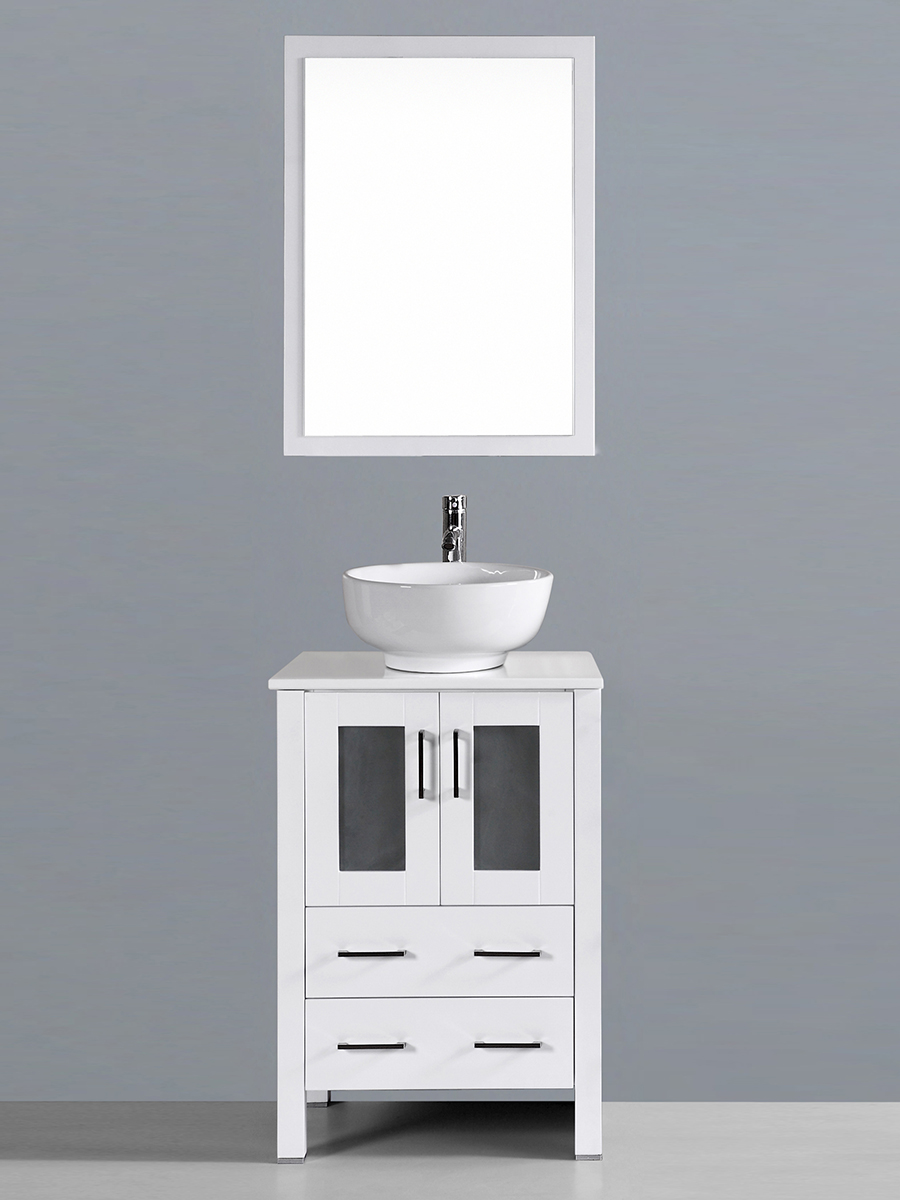 Aria Single Vanity with Round Sink