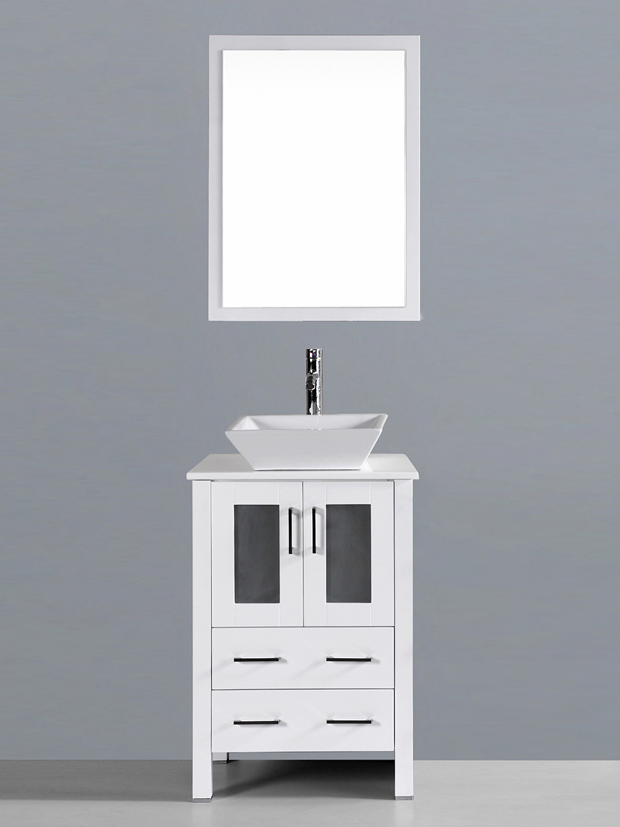 Aria Single Vanity with Angled Sink