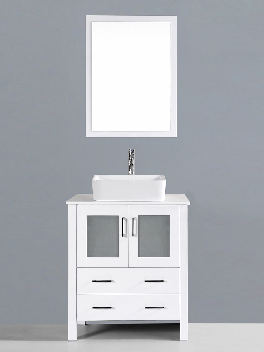 Spencer Single Vanity with Square Sink
