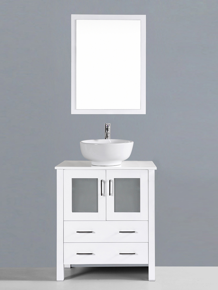 Spencer Single Vanity with Round Sink