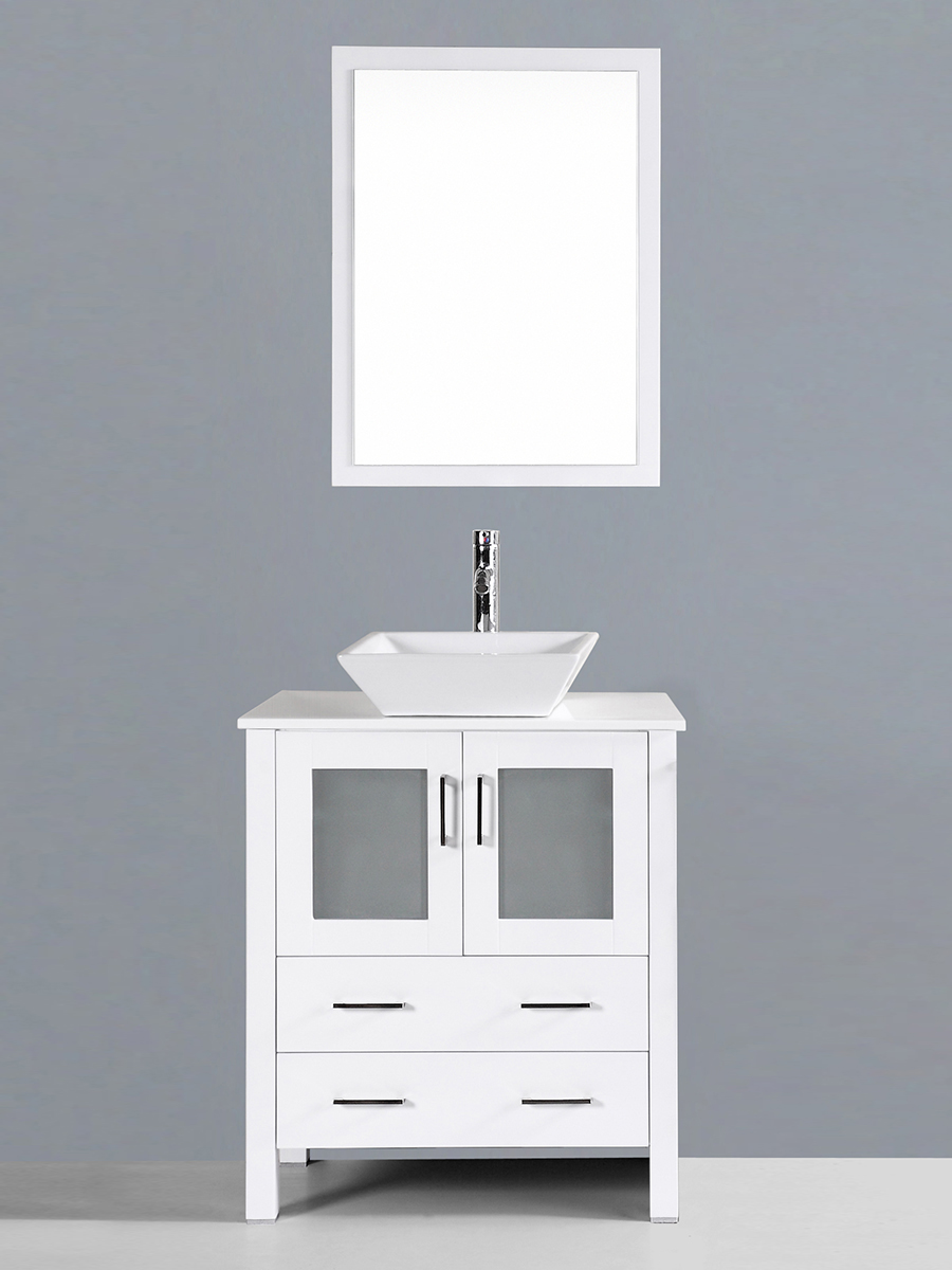 Spencer Single Vanity with Angled Sink