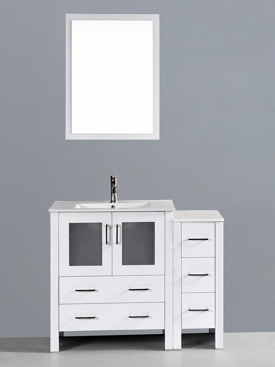 Spencer Single Vanity with Undermount Sink & 1 Side Cabinet