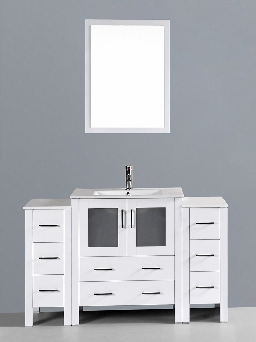 Spencer Single Vanity with Undermount Sink & 2 Side Cabinets