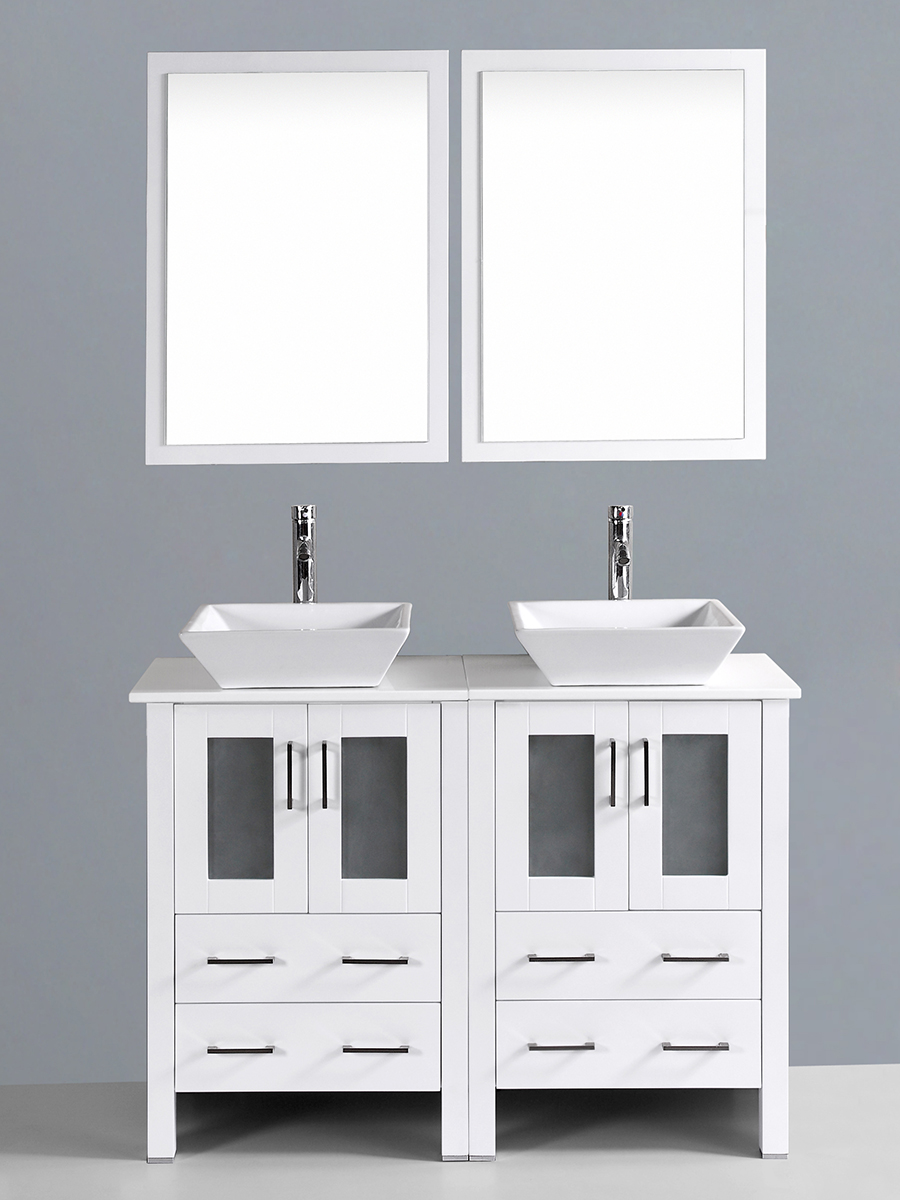 Fields Vanity with Angled Sinks