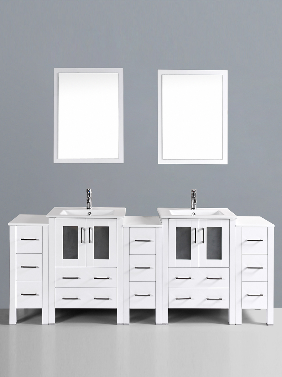 Fields Vanity with Undermount Sinks & 3 Side Cabinets