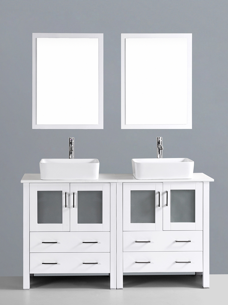 Hanna Vanity with Square Sinks