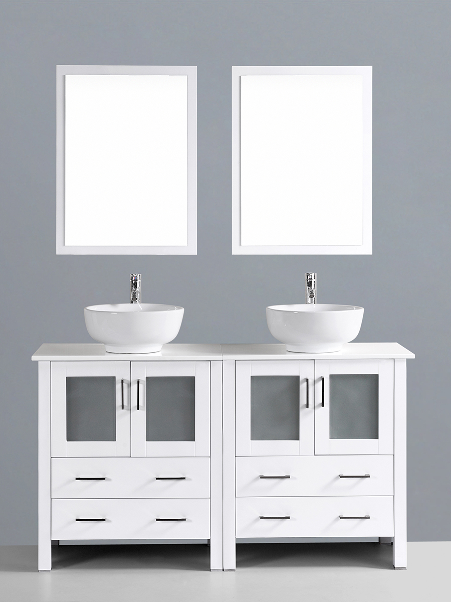 Hanna Vanity with Round Sinks