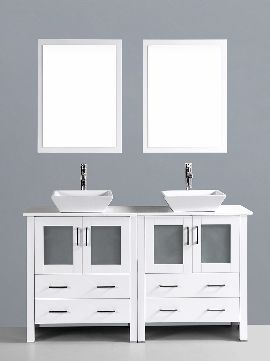 Hanna Vanity with Angled Sinks