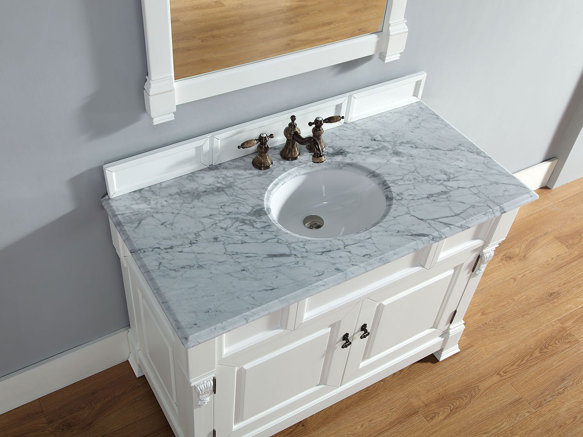 White Carrera Stone Top