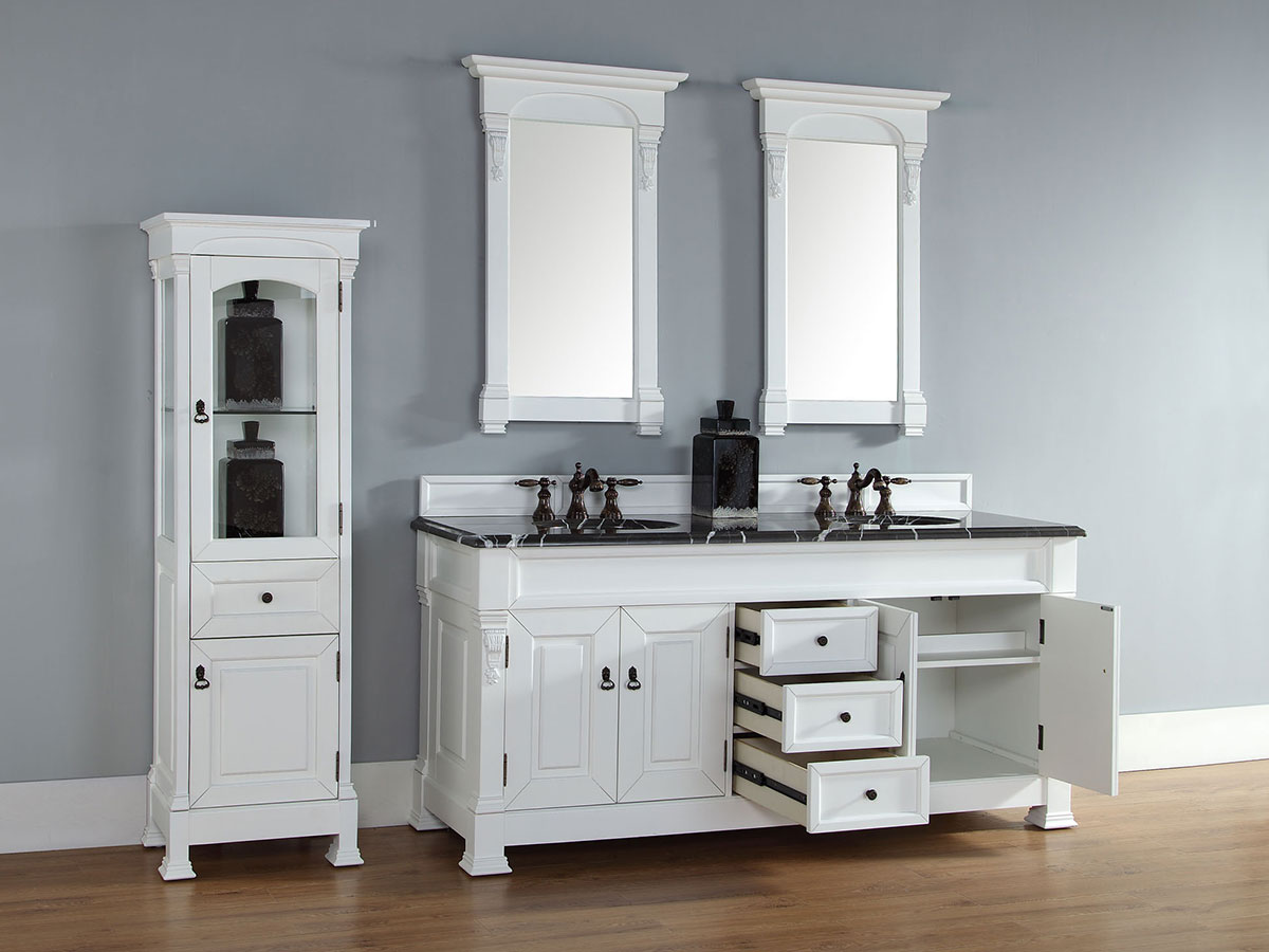 Shown with Optional Linen Cabinet and Mirrors