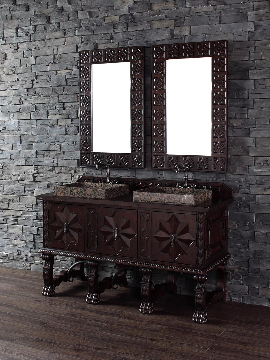 Shown with Wood Top (Vessel Sink Shown Not Included)