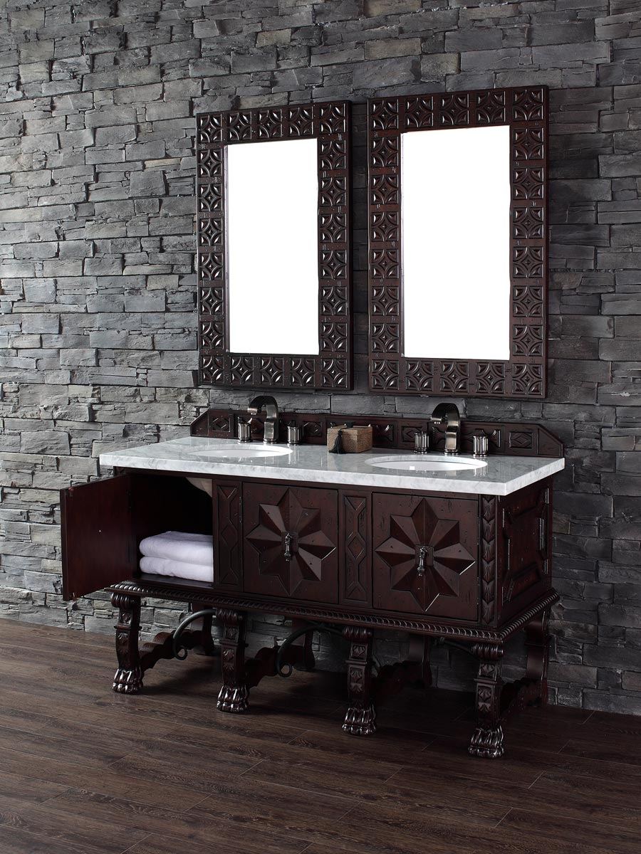 Shown with White Carrera Marble Top