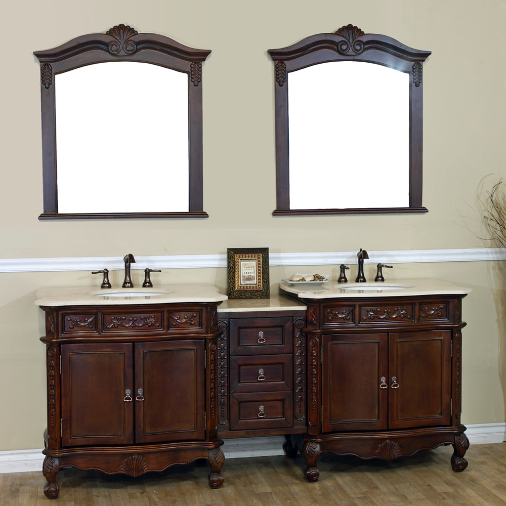 "82.7"" Normandy Double Sink Vanity - Shown With Cream Marble"