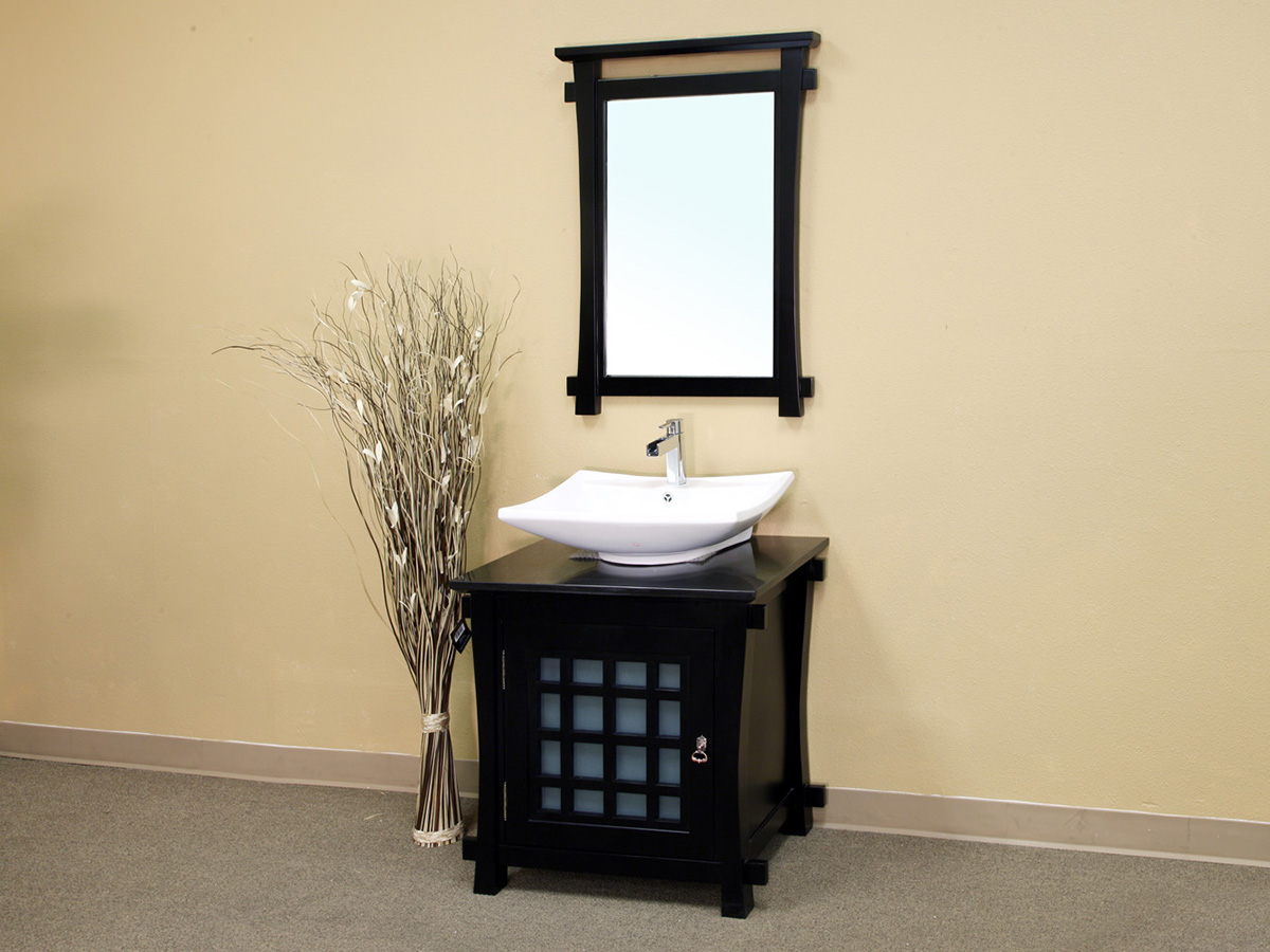 """30"""" Canela Single Vanity Shown With Optional Mirror"""