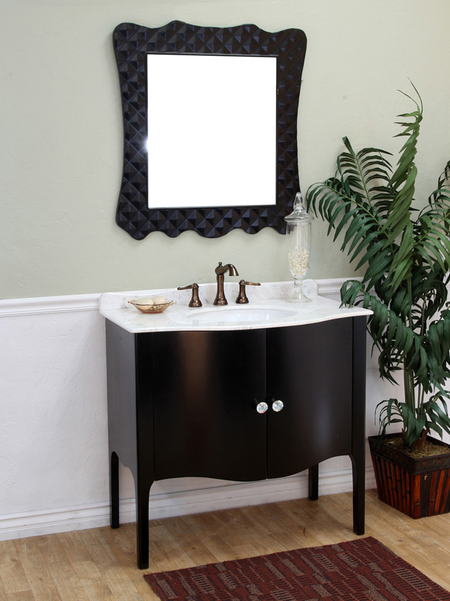 "36.6"" Thetford Single Bath Vanity - Shown With White Marble Top"