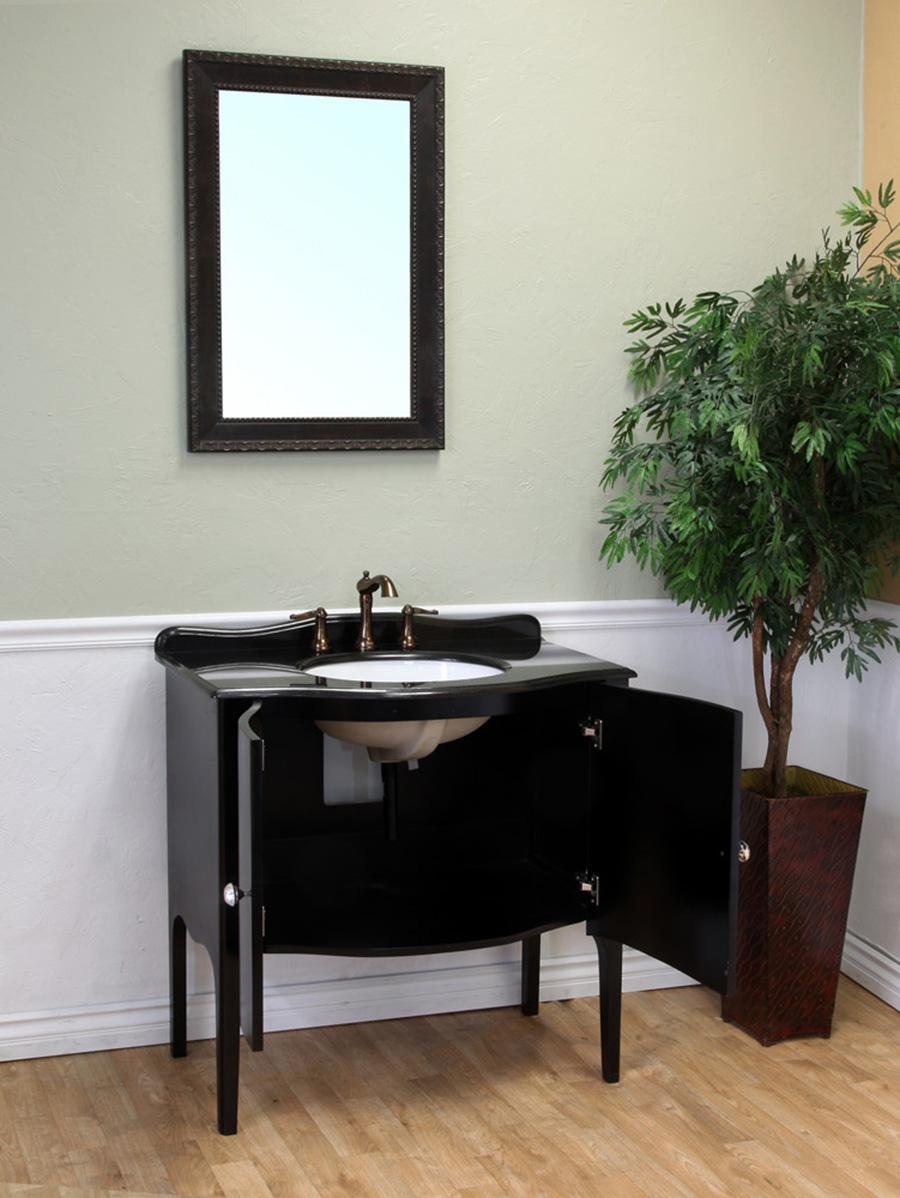 Double-Door Cabinet - Shown With With Black Granite Top