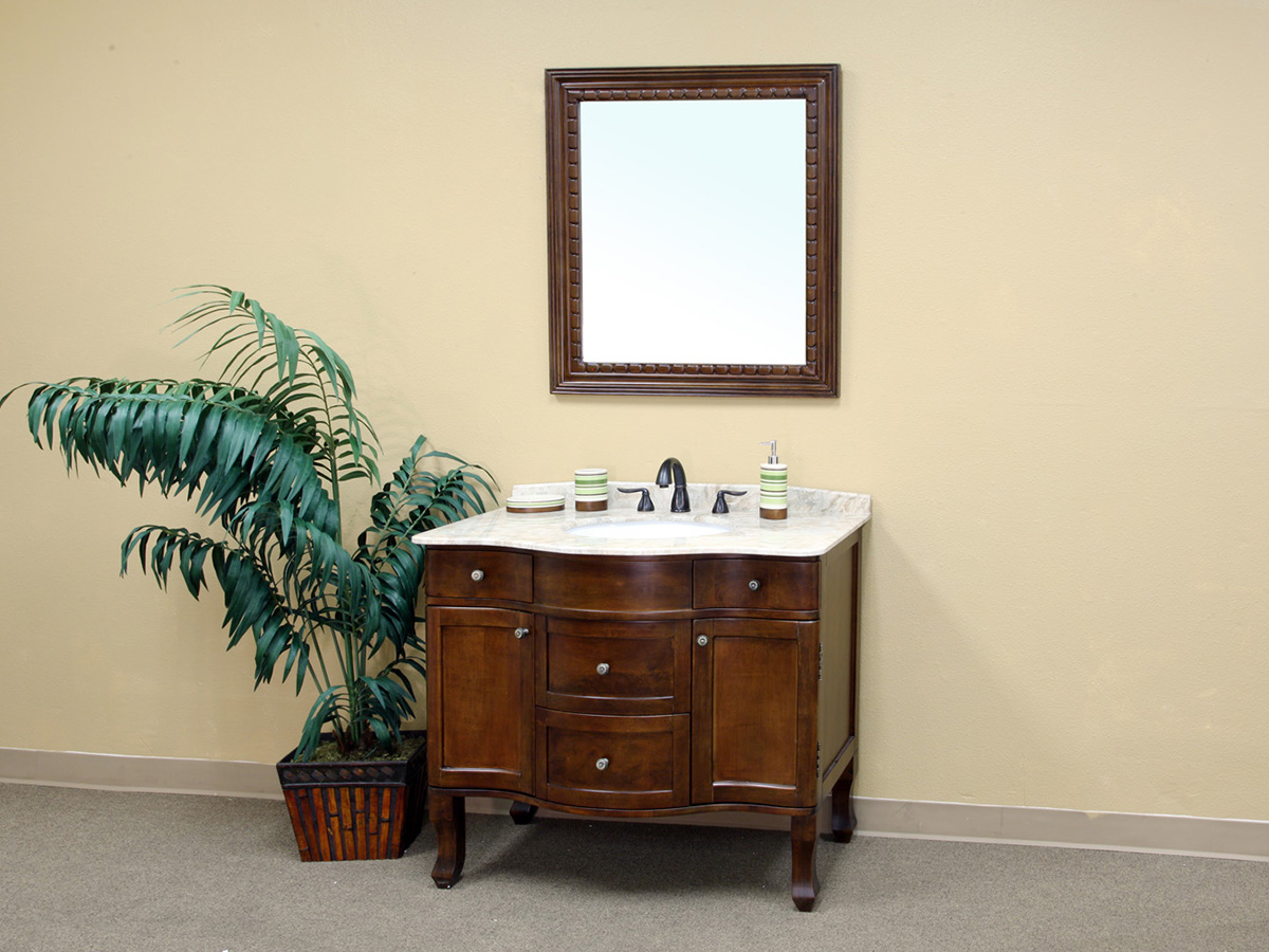 "38.25"" Charentes Single Bath Vanity - Shown With Optional Mirror"