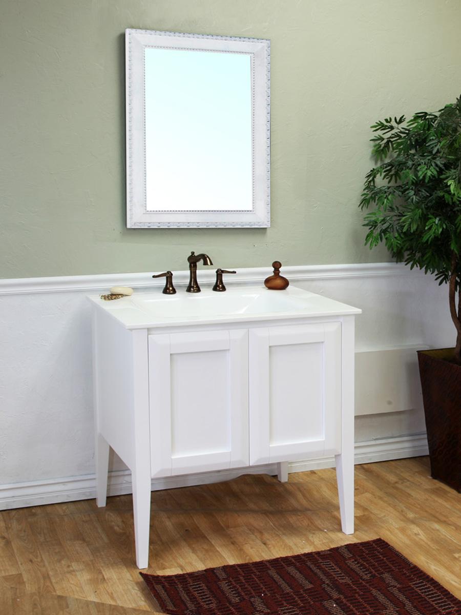"""33.5"""" Alsace Single Bath Vanity in White"""