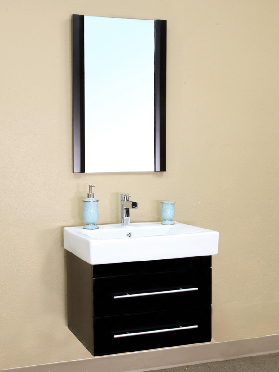 "24.25"" Athos Single Bath Vanity - Shown With Optional Mirror"