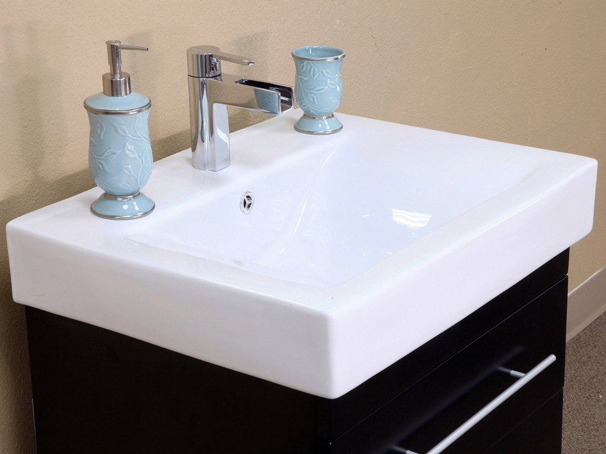 White Ceramic Integrated Sink Top