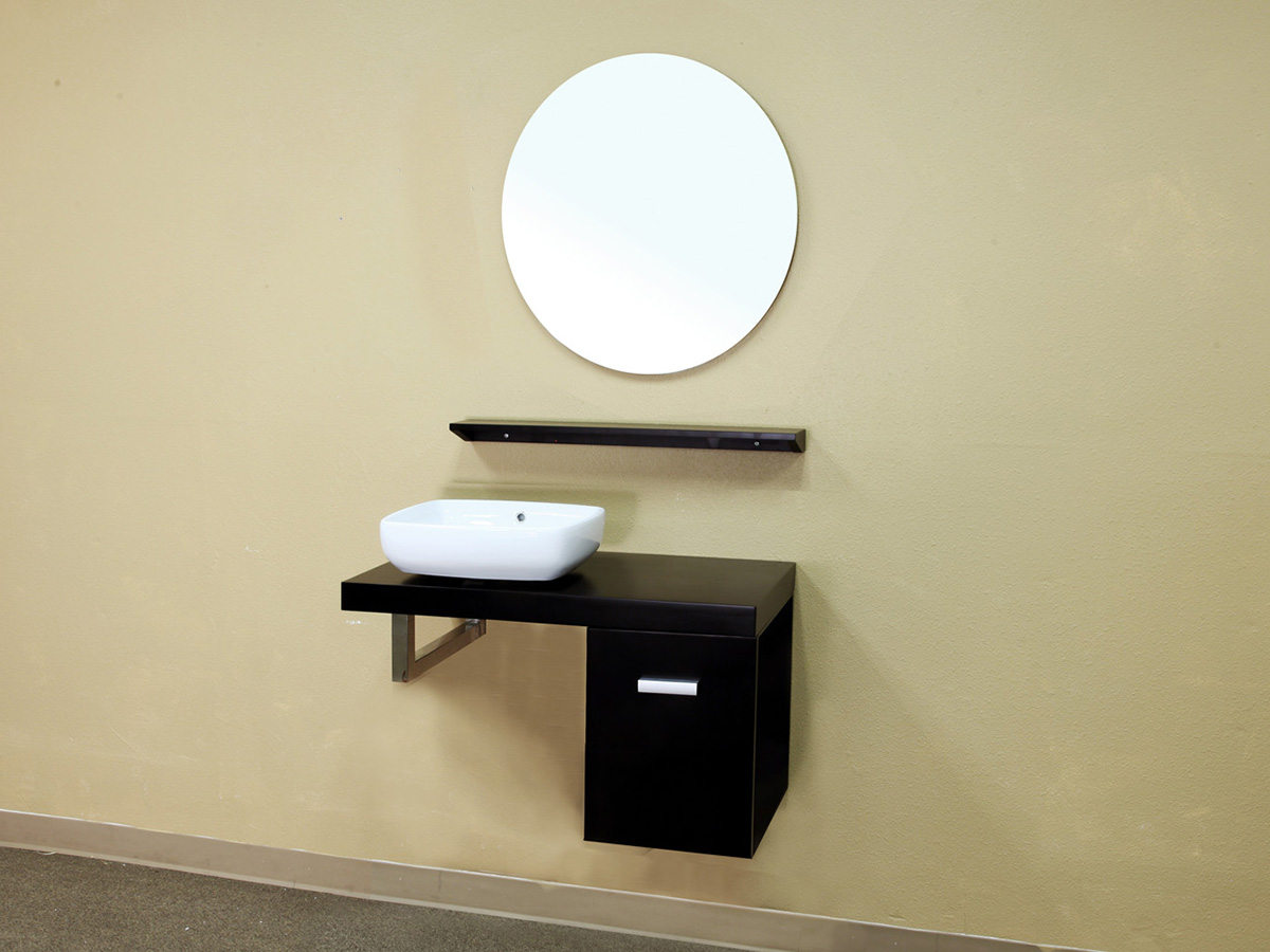 "35.4"" Corsica Wall Mounted Vanity Shown With Optional Mirror"