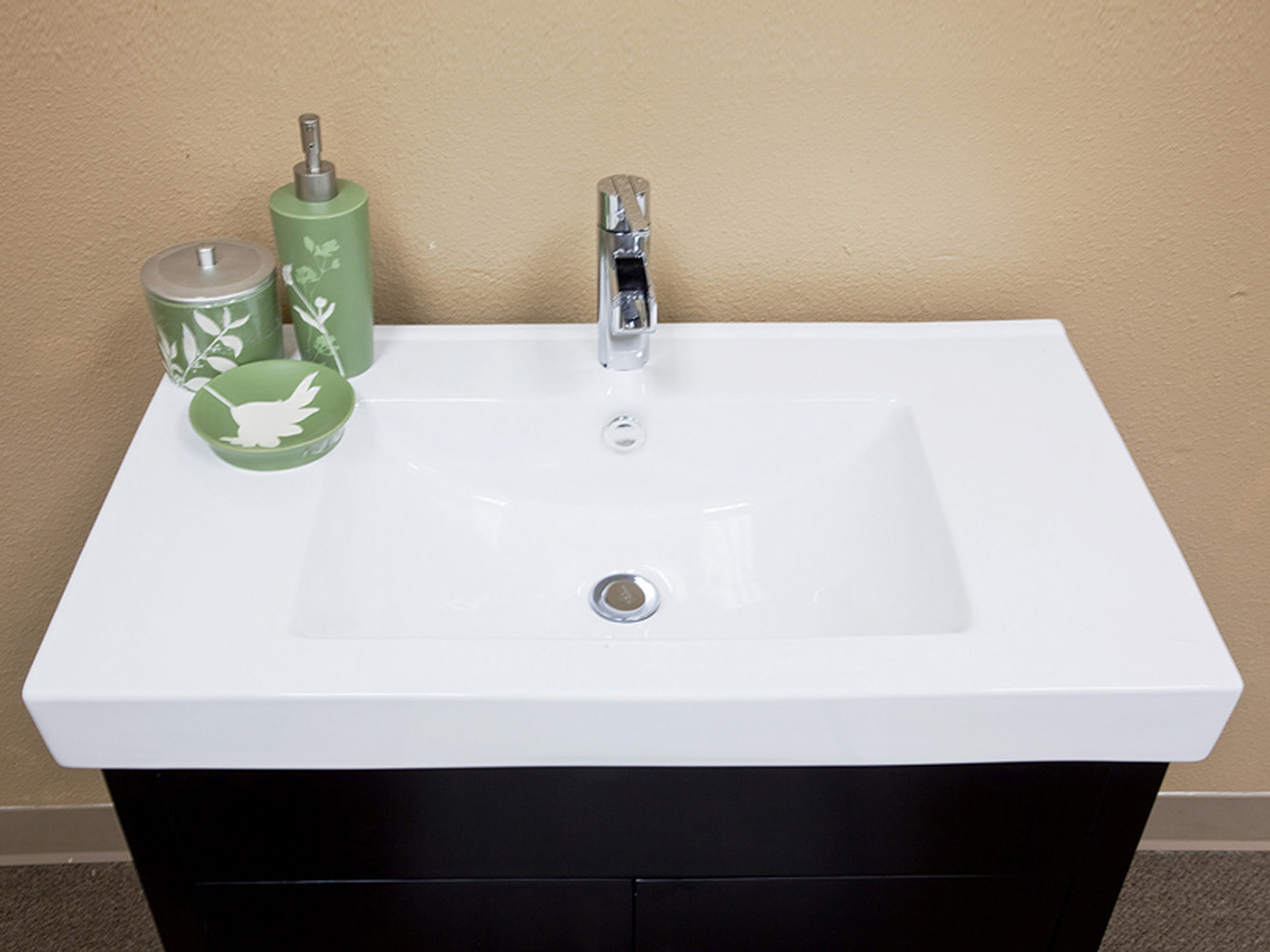 Exceptional Ceramic Vanity Top With Integrated Sink Ideas