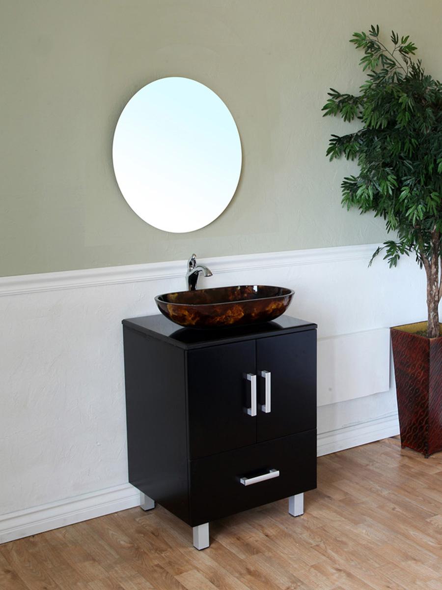"22"" Portua Single Vanity Shown With Optional Mirror"