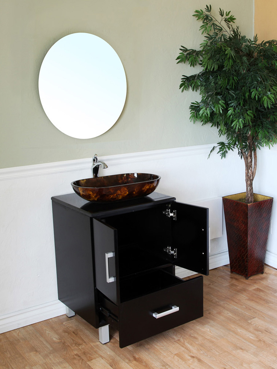 Vanity With Cabinet Space and Drawer