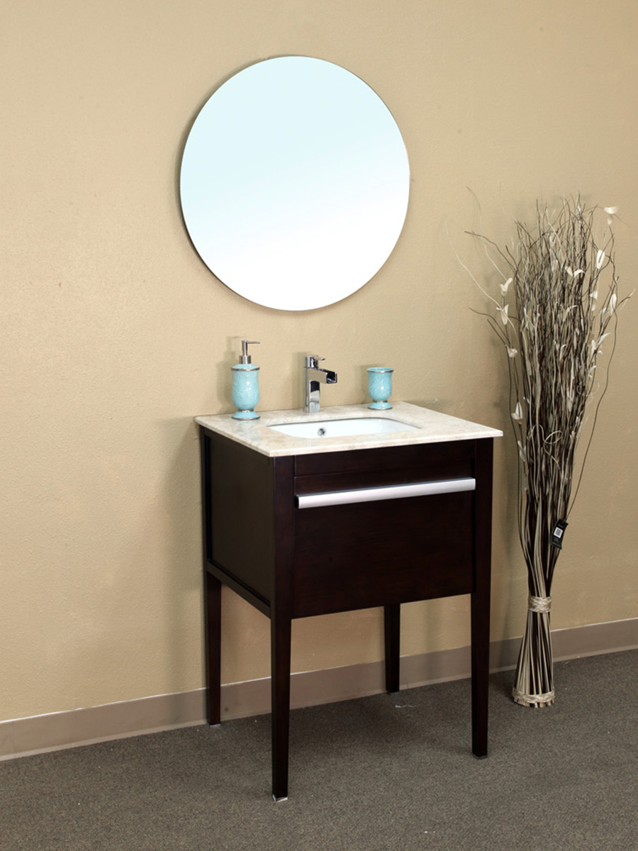 "26"" Volos Single Vanity Shown With Optional Mirror"